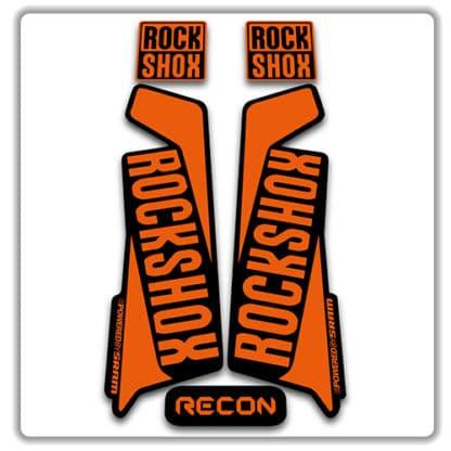 rockshox recon 2015 2017 fork stickers orange