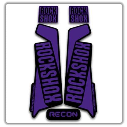 rockshox recon 2015 2017 fork stickers purple