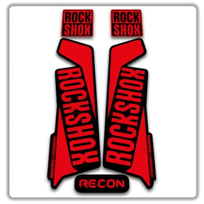 rockshox recon 2015 2017 fork stickers red