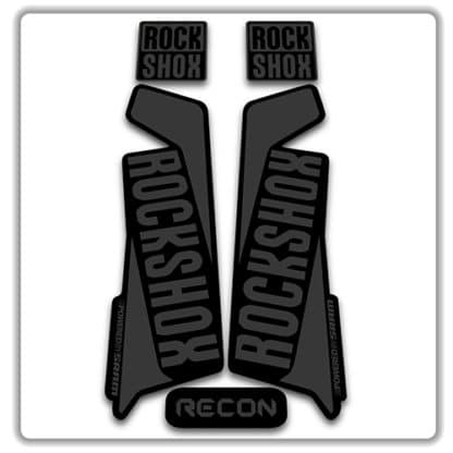 rockshox recon 2015 2017 fork stickers stealth