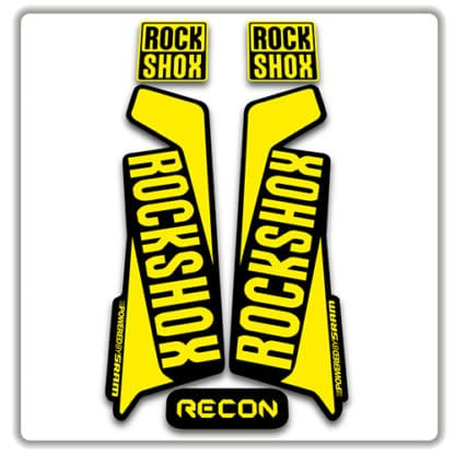 rockshox recon 2015 2017 fork stickers yellow