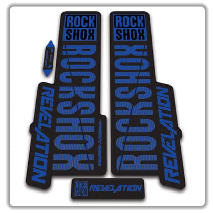 rockshox revelation fork stickers 2018 blue