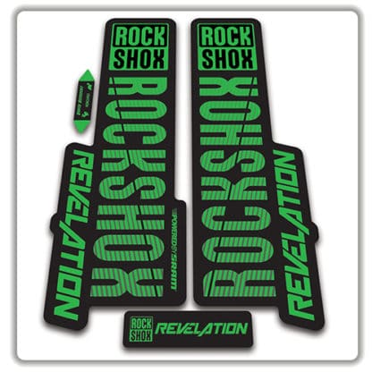 rockshox revelation fork stickers 2018 green