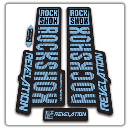 rockshox revelation fork stickers 2018 light blue