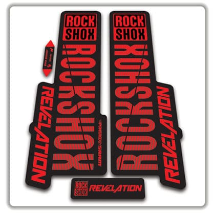 rockshox revelation fork stickers 2018 red