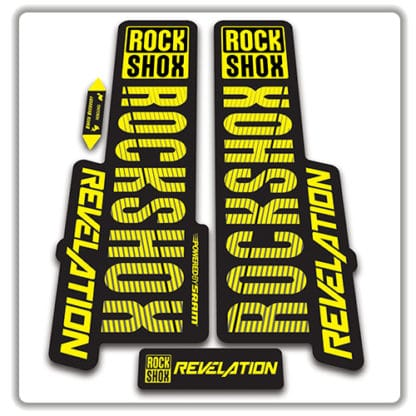 rockshox revelation fork stickers 2018 yellow