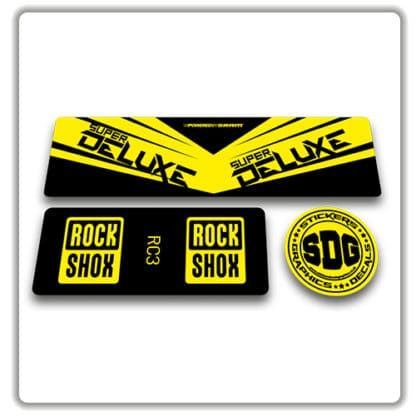 rockshox super deluxe rc3 rear shock stickers yellow
