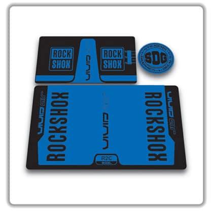 rockshox vivid air r2c rear shock stickers 2016 blue