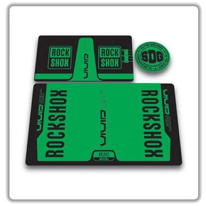 rockshox vivid air r2c rear shock stickers 2016 green