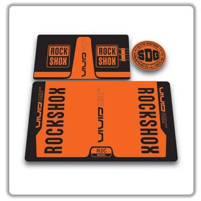 rockshox vivid air r2c rear shock stickers 2016 orange
