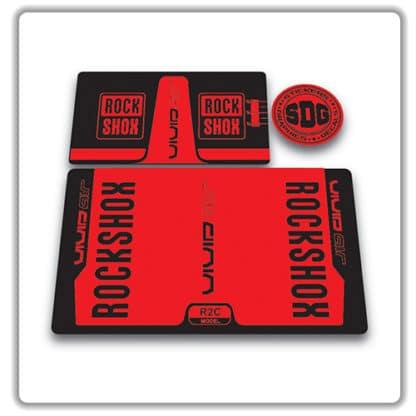 rockshox vivid air r2c rear shock stickers 2016 red