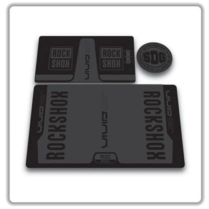 rockshox vivid air r2c rear shock stickers 2016 stealth