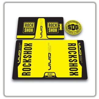 rockshox vivid air r2c rear shock stickers 2016 yellow