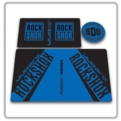 rockshox vivid air r2c rear shock stickers 2017 blue