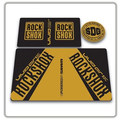 rockshox vivid air r2c rear shock stickers 2017 gold