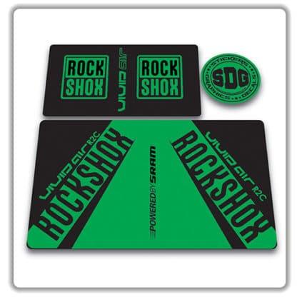 rockshox vivid air r2c rear shock stickers 2017 green