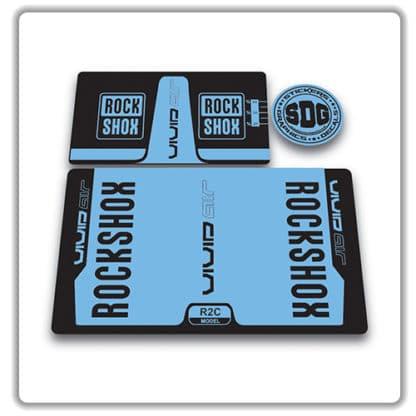 rockshox vivid air r2c rear shock stickers 2017 light blue