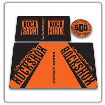 rockshox vivid air r2c rear shock stickers 2017 orange