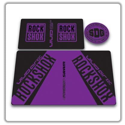 rockshox vivid air r2c rear shock stickers 2017 purple