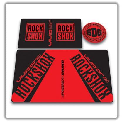rockshox vivid air r2c rear shock stickers 2017 red