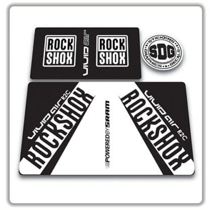 rockshox vivid air r2c rear shock stickers 2017 white