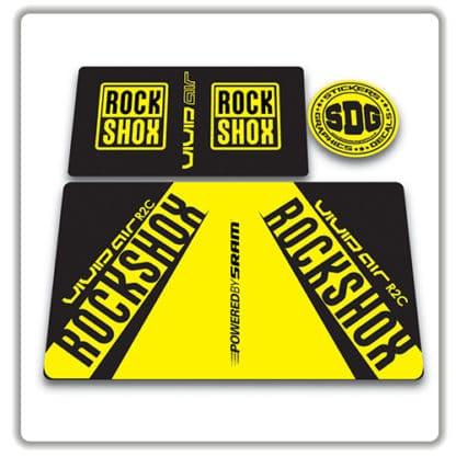 rockshox vivid air r2c rear shock stickers 2017 yellow