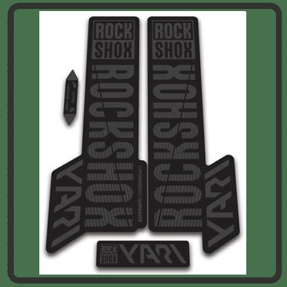 rockshox yari 2018 fork stickers stealth