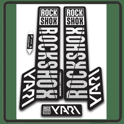 rockshox yari 2018 fork stickers white