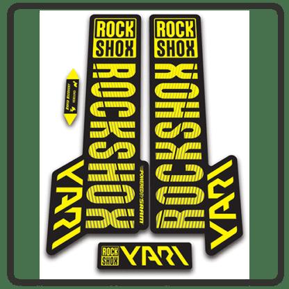 rockshox yari 2018 fork stickers yellow