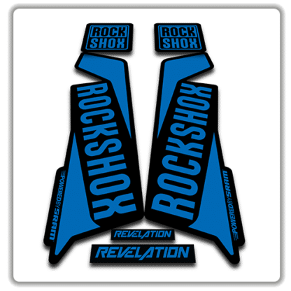 rockshox revelation fork sticker in blue