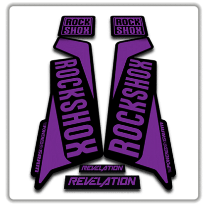 rockshox revelation fork sticker in purple
