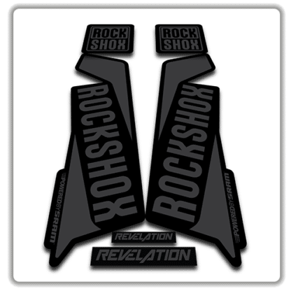 rockshox revelation fork sticker in stealth