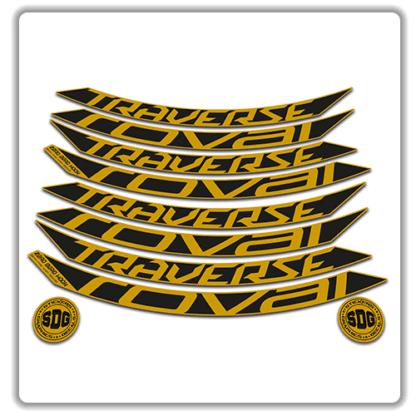 roval traverse fattie 650b gold rim stickers