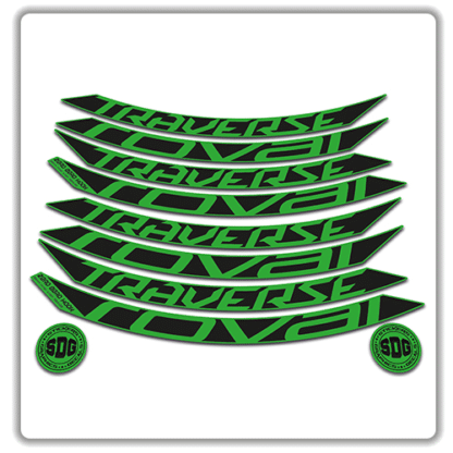 roval traverse fattie 650b green rim stickers