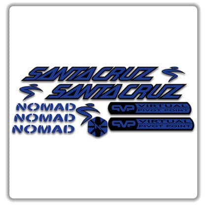 santa cruz nomad mk 1 stickers blue