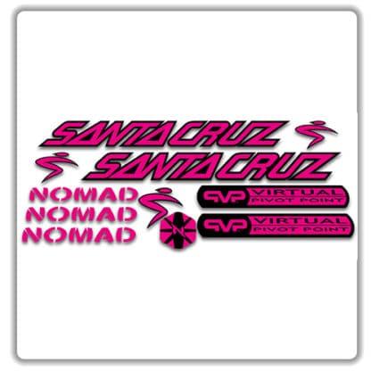 santa cruz nomad mk 1 stickers flouro pink
