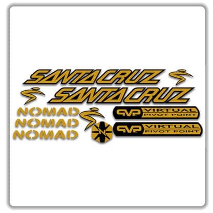 santa cruz nomad mk 1 stickers gold