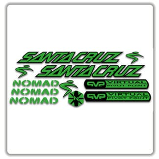 santa cruz nomad mk 1 stickers green