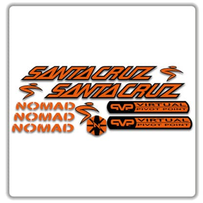 santa cruz nomad mk 1 stickers orange