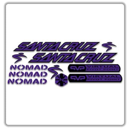 santa cruz nomad mk 1 stickers purple