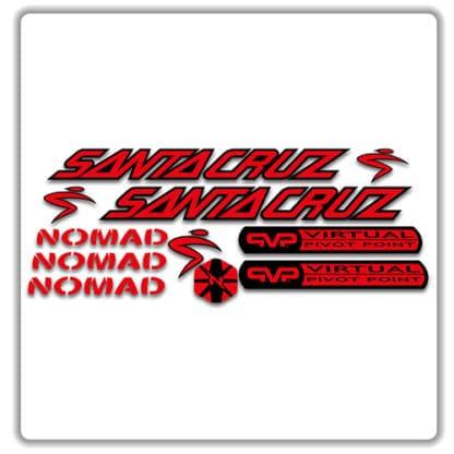 santa cruz nomad mk 1 stickers red