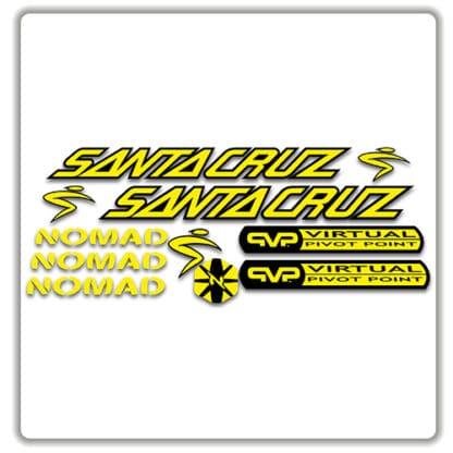 santa cruz nomad mk 1 stickers yellow