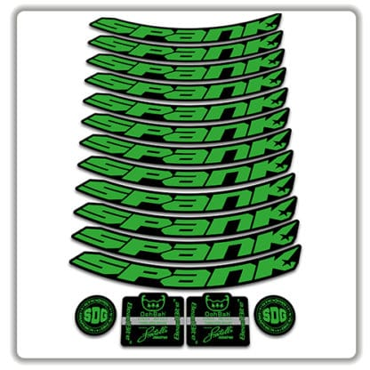 spank spike 33 BEARCLAW Special Edition 27.5 rim stickers green