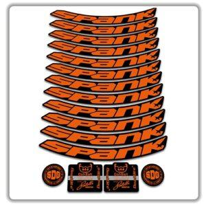 spank spike 33 BEARCLAW Special Edition 27.5 rim stickers orange