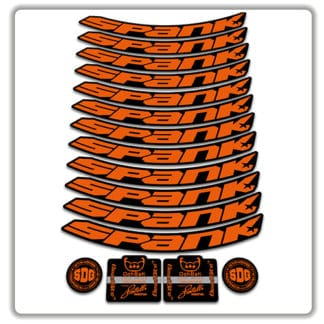 spank spike 33 BEARCLAW Special Edition 27.5 rim stickers orange
