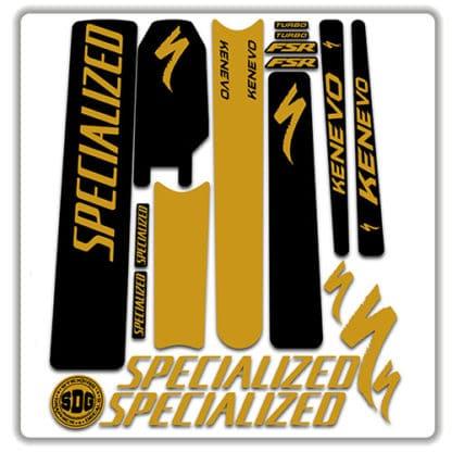 specialized turbo kenevo frame set stickers 2018 2019 gold
