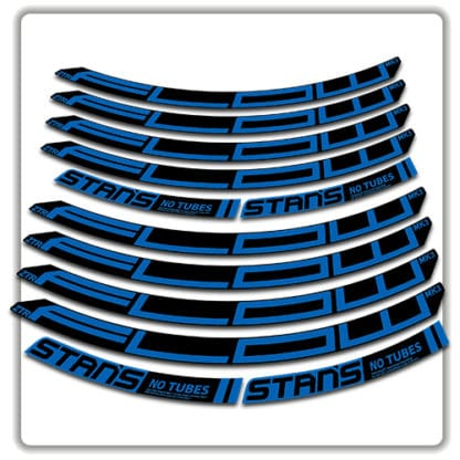 stans no tubes flow ztr mk3 rim stickers blue