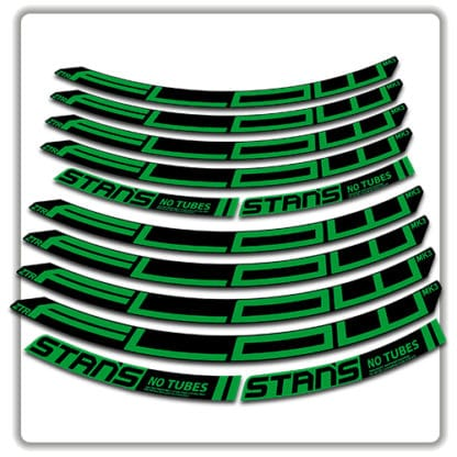 stans no tubes flow ztr mk3 rim stickers green