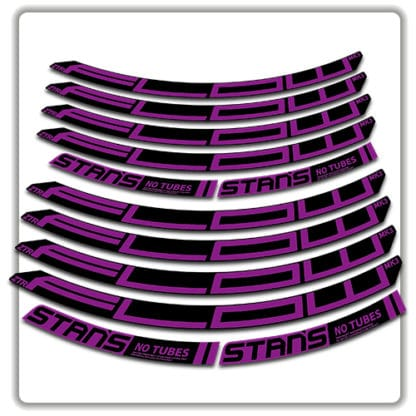 stans no tubes flow ztr mk3 rim stickers purple