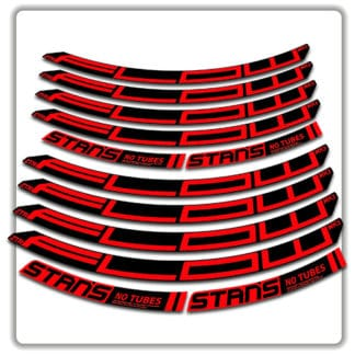 stans no tubes flow ztr mk3 rim stickers red